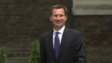 Jeremy Hunt arrived at Downing Street