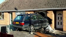 Range rover crashed into bungalow on Hearthcote Road