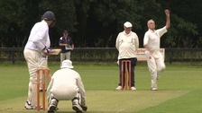 England take on Australia in the over 70s Ashes in Norfolk.