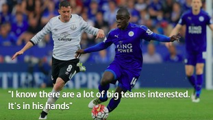 Ranieri: 'Kante's future is in his own hands'