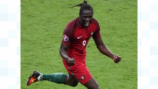Eder of Portugal celebrates scoring during the Euro 2016 final