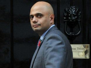 Sajid Javid arrives at Downing Street
