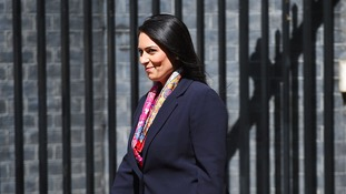 Priti Patel was all smiles after leaving Downing Street.