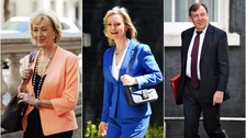 Andrea Leadsom and Liz Truss have been promoted, but John Whittingdale has been sacked.