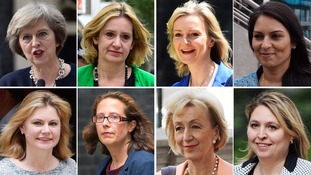The eight women in the cabinet