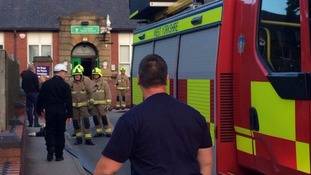 West Yorkshire Fire service were called to the scene around 7:15pm.