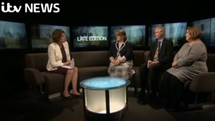 Emma Hutchinson with Therese Coffey MP (Con), Daniel Zeichner MP (Lab) and Cllr Lisa Duffy (UKIP)