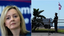 Liz Truss said she was 'horrified' by the events in Nice.
