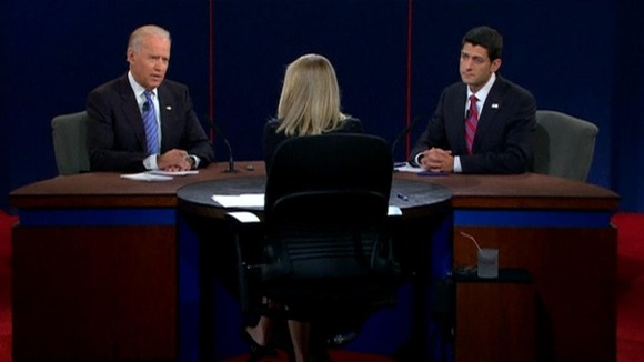 Vice President Joe Biden and Republican Congressman Paul Ryan during their debate