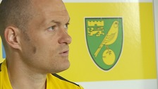 Alex Neil talks to the press at Colney today.