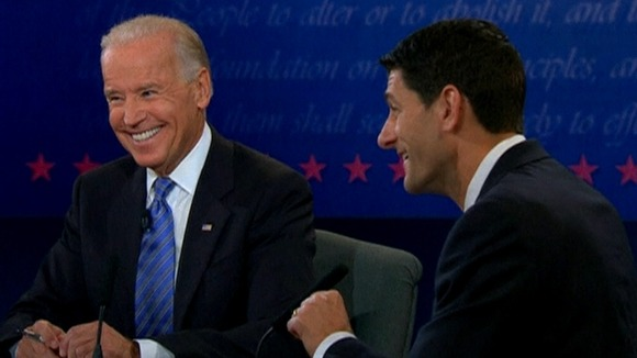 Joe Biden and Paul Ryan in the debate last