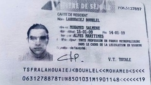 This is Mohamed Lahouaiej Bouhlel's French resident card, according to senior U.S. military officials