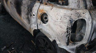 The car was gutted in the blaze