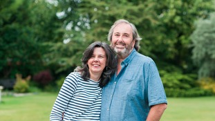 Helen Bailey with Ian Stewart, who has been charged with her murder.