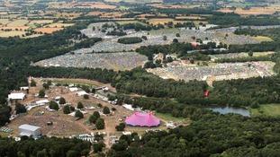 Aerial view of Latitude festival