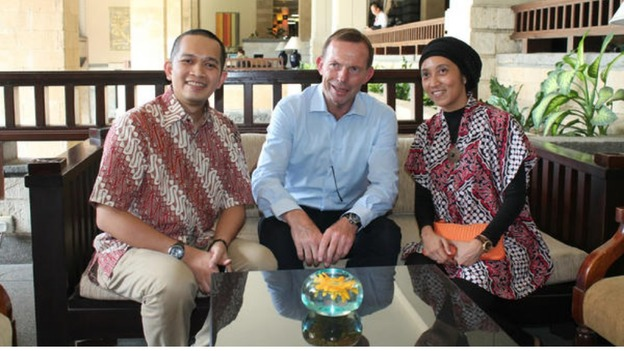 Tony Abbott and Farshal Hambali