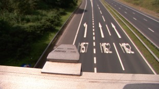 The eastbound carriageway was closed