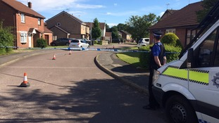Pictures from the scene of Nottinghamshire double stabbing