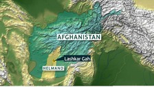 Two British soldiers were shot dead at the British HQ in Lashkar Gar, Afghanistan