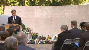 Foreign Office Minister Hugo Swire speaking at the memorial service.