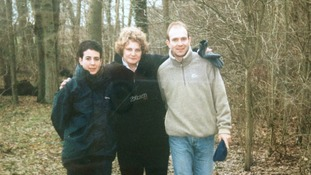 Dan Miller (right) with his sister Susanna (centre) and her partner Theresa.