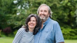 Children's author Helen Bailey with her partner Ian Stewart.