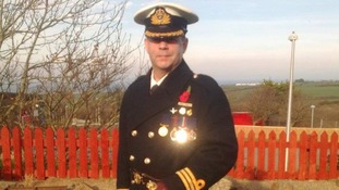 Brian Thomas in sea captain uniform
