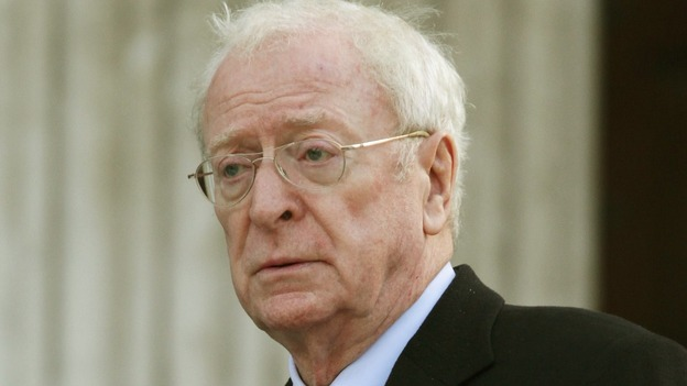 Actor Sir Michael Caine outside the Cathedral.