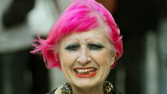 Designer Zandra Rhodes arrives at St Paul's Cathedral.