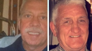 The bodies of John Shaw and Ken Creswell are still trapped beneath debris