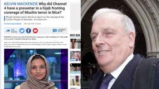 Channel 4 News condemn Sun columnist Kelvin MacKenzie after attack on hijab-wearing presenter