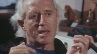 Jimmy Savile being interview by ITV In 1998