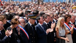 French PM Manuel Valls was booed after the minute's silence.