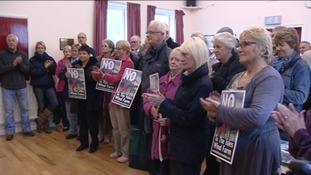 Protest against Sedgefield wind farms