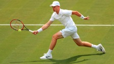 Tennis ace Kyle Edmund in action