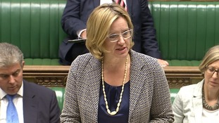 Amber Rudd speaks in the House of Commons on Monday.