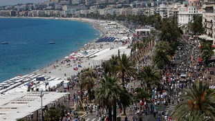 The Promenade des Anglais, where the attack happened.