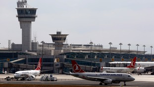 Ataturk International Airport in Istanbul.