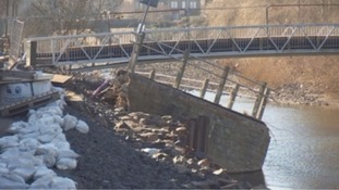 Flood damage in Hawick