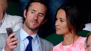 Pippa Middleton with her fiance James Matthews