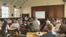 Residents at the Flimby Flood Forum