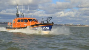 RNLI Shannon class lifeboat in action