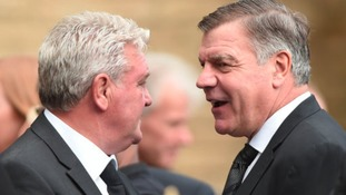 Steve Bruce and Sam Allardyce who are both in the frame for the England job