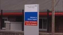 A&E at Whiston hospital in Merseyside.
