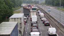 M3 reopens after six-car crash