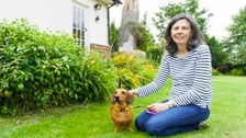 Helen Bailey and dog Boris.