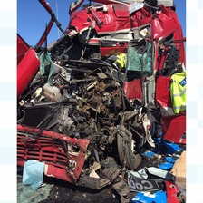 'Amazing' escape for lorry driver after horror crash