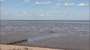 The Thames Estuary off the Isle of Grain