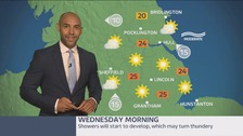 Morning weather update with Alex Beresford