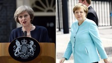 Theresa May will meet with Angela Merkel on Wednesday